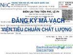 Đăng ký mã số mã vạch tại Viện Tiêu chuẩn Chất lượng Việt Nam