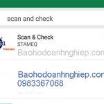 Kiểm tra Mã vạch trên điên thoại bằng phần mềm Scan and Check